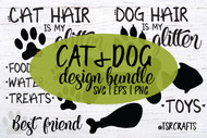 Cat & Dog Design Bundle - 12 Designs in SVG / EPS / PNG