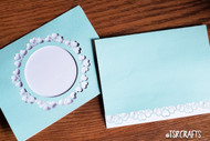 Lace Heart Digital Card Templates - 2 card templates - svg cut files