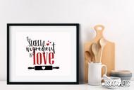 kitchen svg - baking svg - The Secret Ingredient is Love