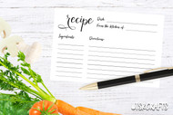 Printable Recipe Card - Minimalist style recipe card printable in multiple sizes
