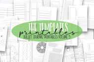 Bullet Journal printable inserts- The Templates Vol 5 - Daily, Weekly and Monthly templates + more- for print or use in digital planners