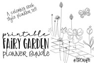 Fairy Printable Bullet Journal Kit - with hand drawn fairy doodles