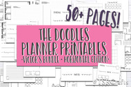 Printable Planner Inserts - Victor's Bundle Doodle Planner Printables- HORIZONTAL EDITION