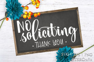 No Soliciting SVG Cut File design set