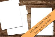 """US Letter Divider Digital Template - Print & Cut set of 8.5"""" x 11"""" divider tabs - blank divider template in png, svg, pdf, eps, dxf"""