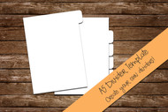 "A5 Divider Digital Template - Print & Cut set of 5.83"" × 8.27"" divider tabs - blank divider template in png, svg, pdf, eps, dxf"