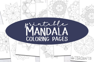 Printable Mandala Coloring Pages - 12 Coloring pages for adults or kids - Ready to print PDF