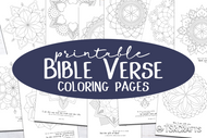 Bible Verse Coloring Pages Printable Bundle - 12 Coloring pages for adults or kids with bible verses - Ready to print PDF