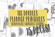 Printable Planner Inserts - The Doodle Journal Series - September Sunflower Mandala Edition