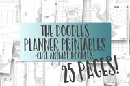 Printable Planner Inserts - The Doodle Journal Series - Zen Animal Bundle