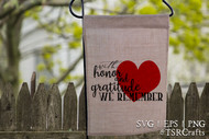 Memorial Day SVG cut file and PNG clip art design for DIY Home Decor
