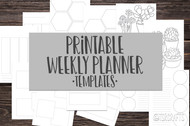 Printable Weekly Planner Inserts - 6, two page weekly layout designs, 12 pages total
