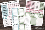 Functional Planner Stickers - Printable by the page sticker set - Set# 20203