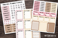 Functional Planner Stickers - Printable by the page sticker set - Set# 202010