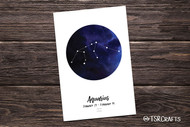 Printable Wall art - Aquarius Zodiac sign - Aquarius Astrology Art Printable Home Decor