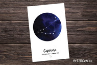 Printable Wall art - Capricorn Zodiac sign - Capricorn Astrology Art Printable Home Decor