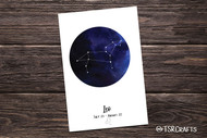 Printable Wall art - Leo Zodiac sign - Leo Astrology Art Printable Home Decor