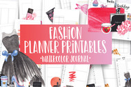 Fashion Watercolor Planner Inserts & Digital Planner Set