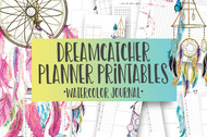 Dream Catcher  Watercolor Planner Inserts & Digital Planner Set