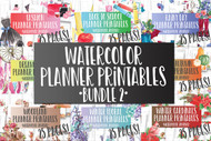 Planner Inserts/Templates - Watercolor Planner Series - Ultimate Bundle 2