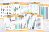 Printable Reminder Sticker Set-DD-178-186-9 pages in PNG format Ready to print stickers plus 147 clip art graphics for digital planners!