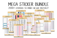 Printable Reminder Sticker MEGA BUNDLE - 2000+ individual stickers!