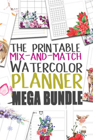 Planner Inserts/Templates - Watercolor Planner Series - THE ENTIRE SEIRES PLUS EXTRAS!