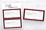 Printable Coupon Book template - 1 page template that is easy to print - Printable Christmas Coupon - gift coupon