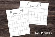 Chore Chart Printable - PDF family chore chart download (weekly chore chart)