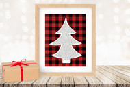 Twas the Night Before Christmas Printable Tree Art - Modern Tree / Red Plaid - Printable Christmas Wall Art for home decor and DIY Gifts