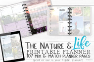 Printable Life Planner - Functional Planner Inserts to print or use in your digital planner - 107 pages - PDF - Easy to use