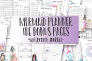 Bonus Mermaid Planner Bundle - Printable Planner Inserts - Mermaid Planner & Journal Set BONUS PAGES BUNDLE