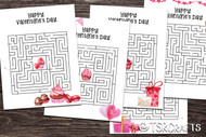 Printable Valentine's Day Activity Sheets - 5 Valentine's Day Mazes to print