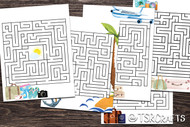 Printable Travel Activity Sheets - 5 Travel Mazes to print