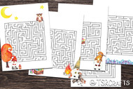 Printable Gnomes Activity Sheets - 5 Gnome Mazes to print