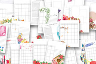 Monthly Watercolor Planner Bundle  -  Monthly themed printable planner layouts