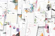 Tracker Planner Bundle 1 -  printable habit and mood tracker planner layouts
