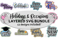 Holidays and Special Occasions Layered SVG Bundle volume 1