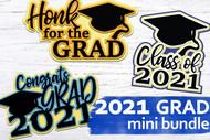 Class of 2021 Mini SVG Bundle - Layered svg grad designs