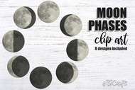 Moon Phases - moon phases svg, moon phases clip art, lunar moon phases