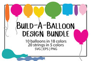 Balloon SVG Bundle - Build a balloon mix and match set