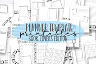 Planner Printables - The Templates Book Lover's edition