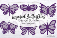 Layered 3d Butterfly Svg Bundle in AI, EPS, SVG, PDF and PNG
