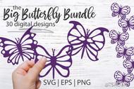 Butterfly SVG Bundle - 30 digital butterfly designs