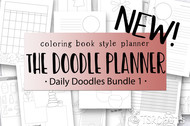 Doodle  Planner - Daily Doodles Bundle #1 - NEW!
