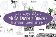 Mega Monthly Divider Bundle - 11 different monthly divider sets in 1 big bundle! (plus 1 bonus unlabeled set))