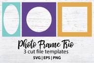 Photo Frame Trio - 3 cut files to create photo frames
