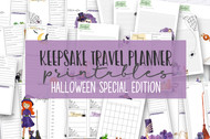 Halloween Keepsake Printable Travel / Vacation Planner - Planner Inserts to print or use in digital planner app - digital travel planner kit