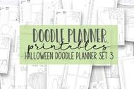 Halloween Doodle Planner #3 - Printable planner inserts / digital planner bundle
