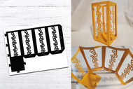 Halloween Paper Lantern Template - Candy Corn Design